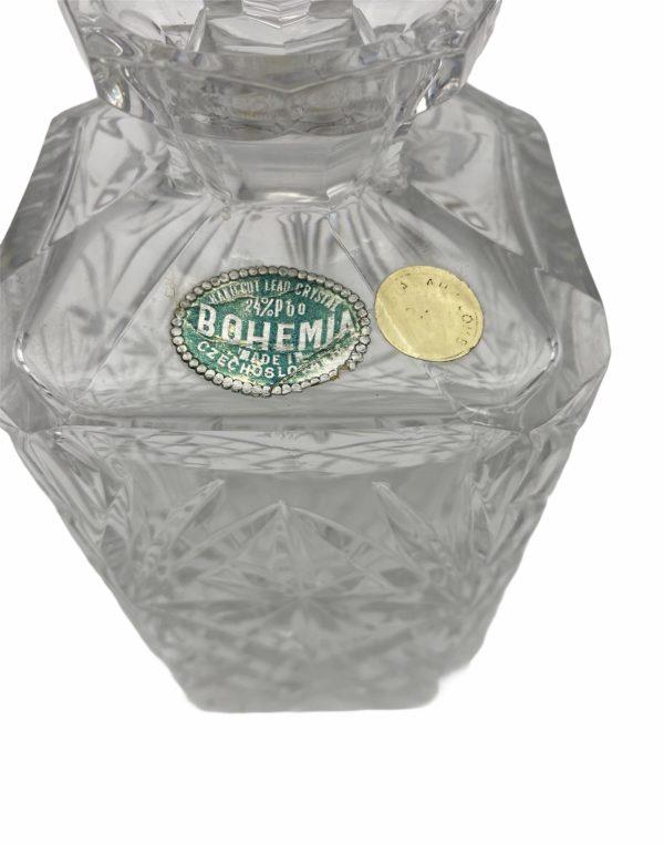 carafe en cristal de bohème